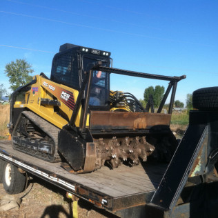 ASV RC100 Track Steer with Bradco Magnum Mulching